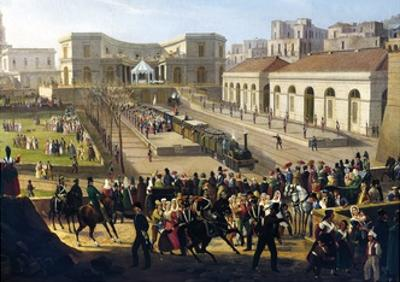 The Opening of Railway Line from Naples to Portici, 1840