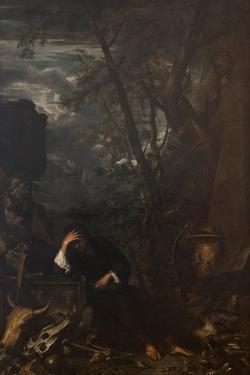 Democritus in Meditation, 1651 by Salvatore Rosa