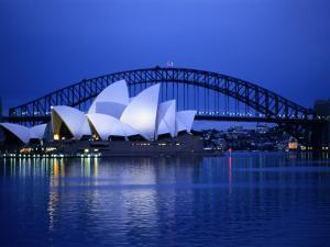 Harbor and Opera House, Sydney, New South Wales, Austalia by Sam Abell