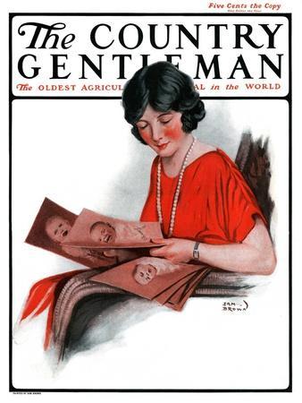 """Baby Photos,"" Country Gentleman Cover, December 6, 1924"
