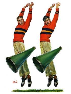 """""""Cheerleaders,""""October 18, 1930 by Sam Brown"""