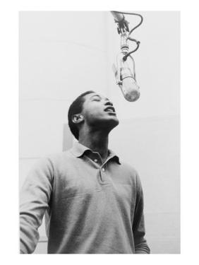 Sam Cooke, Singing into Microphone 1964, the Year of His Mysterious and Untimely Death