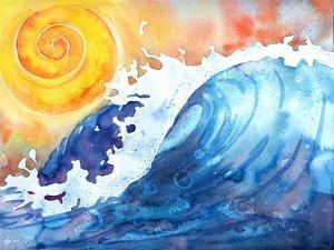 Facing East Ocean Wave by Sam Nagel
