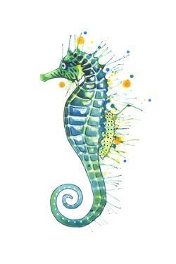 Green Seahorse by Sam Nagel