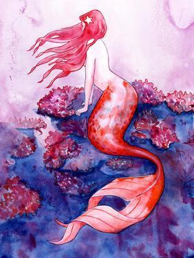 Red Coral Mermaid by Sam Nagel