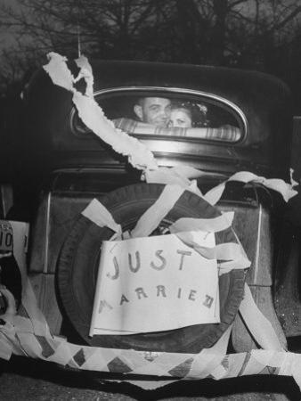 Vern Tobias and His Wife Eleanor, Leaving Home After Their Wedding by Sam Shere