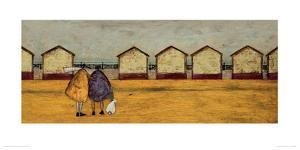 Looking Through The Gap In The Beach Huts by Sam Toft