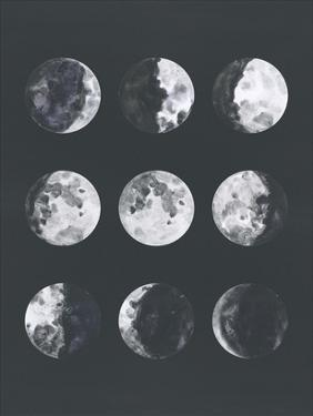 Moon Phases Watercolor Ii by Samantha Ranlet