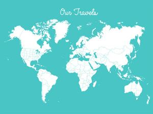 Our Travels Aqua by Samantha Ranlet