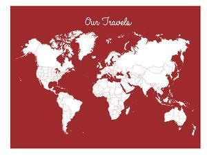 Our Travels Crimson by Samantha Ranlet