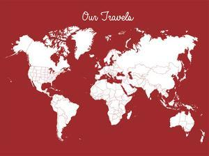 Our Travels Crimson by Samantha Ranlet