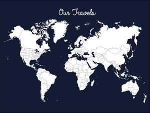 Our Travels Midnight Blue by Samantha Ranlet