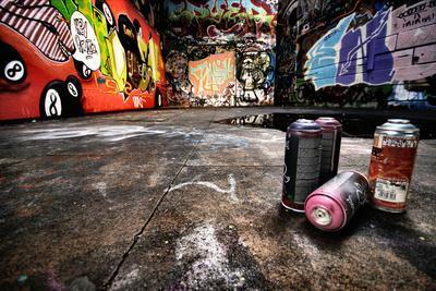 A Derelict Area Of Graffiti