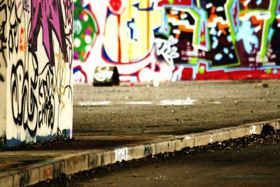 Colorful Selective Focus Graffiti Concept