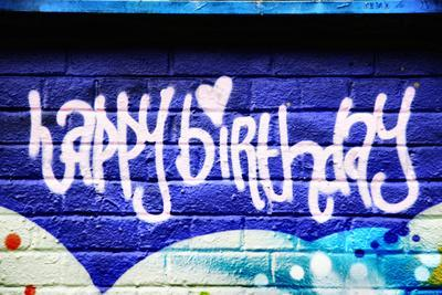 Happy Brithday In Graffiti