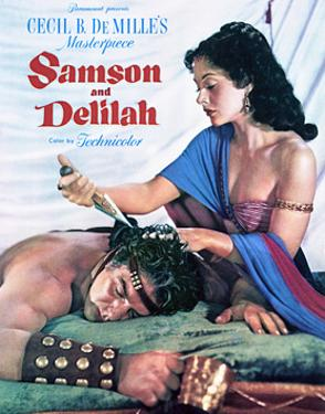 Samson and Delilah - Movie Poster Reproduction