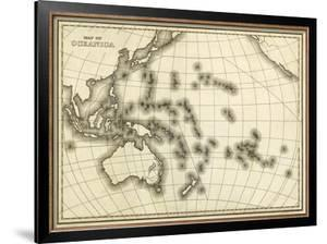 Map of Oceanica, c.1839 by Samuel Augustus Mitchell