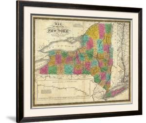 State of New York, c.1831 by Samuel Augustus Mitchell
