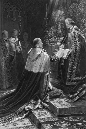 Edward VII Taking the Oath, 1902