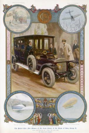 George V Enters the Royal Daimler by Samuel Begg