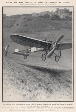 Louis Bleriot Flies the Channel Landing at Dover 37 Minutes after Take-Off from Near Calais by Samuel Begg