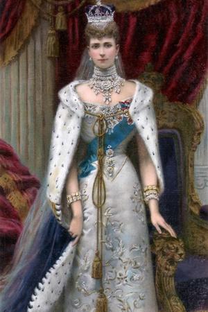 Queen Alexandra in Full Coronation Robes, 1902
