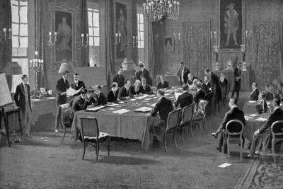Signing the Treaty of London, May 1913