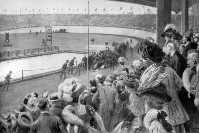 The Finish of the Marathon, Olympic Games, London, 1908