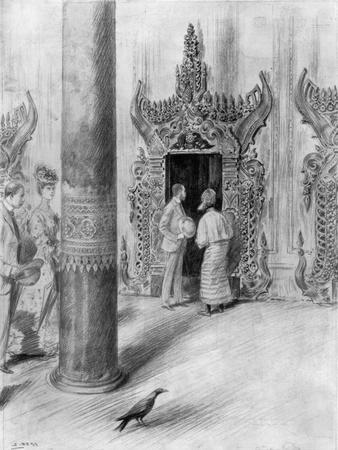 The Prince and Princess of Wales in King Theebaw's Palace, Mandalay, Burma, 1906