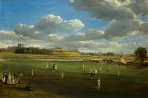 Cricket Match at Edenside, Carlisle, c.1844 by Samuel Bough
