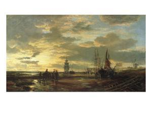 Low Tide, 1858 by Samuel Bough