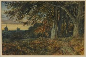 Naworth Castle, 1840-45 by Samuel Bough