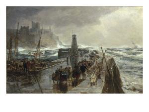 Peel Harbour, Isle of Man, 1875 by Samuel Bough