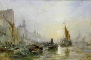 Shipping on the Thames by Samuel Bough