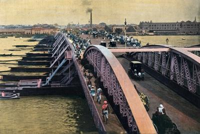 Bridge over the River Hooghly, Calcutta, India, C1880-1890