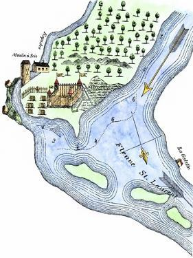 Samuel de Champlain's Fortified Camp at Quebec on the St. Lawrence River, c.1600