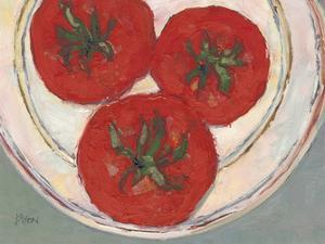 Plate with Tomato by Samuel Dixon