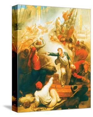 Captain William Rogers Capturing The Jeune Richard I by Samuel Drummond