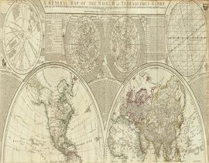General Map of the World, or Terraqueous Globe, c.1787 by Samuel Dunn