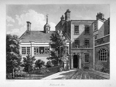 Barnard's Inn , City of London, 1800 by Samuel Ireland