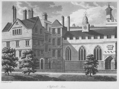 Clifford's Inn, City of London, 1800 by Samuel Ireland