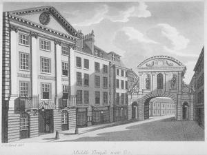 Gate House, Middle Temple, City of London, 1800 by Samuel Ireland
