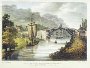 Iron Bridge across the Severn at Ironbridge, Coalbrookdale, England, Built 1779 by Samuel Ireland