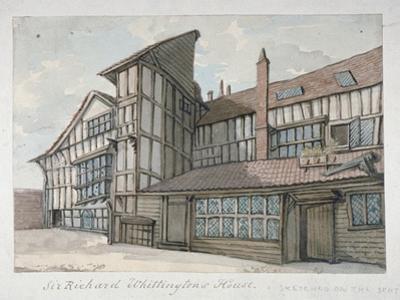 Sir Richard Whittington's House, Milton Street, City of London, 1800 by Samuel Ireland