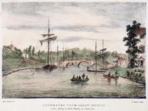 Stourport-On-Severn, Worcestershire, from Below the Bridge, C1795 by Samuel Ireland