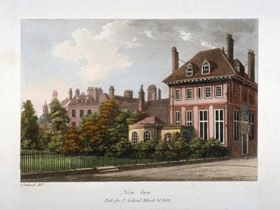 View of New Inn, Wych Street, Westminster, London, 1800 by Samuel Ireland