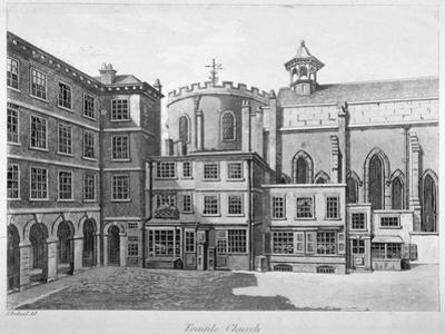 View of Temple Church, City of London, 1800 by Samuel Ireland