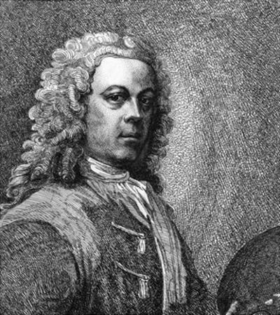 William Hogarth, Artist, with Wig and Palette by Samuel Ireland