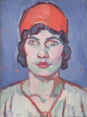 Portrait of a Girl, Red Bandeau, C.1912 by Samuel John Peploe