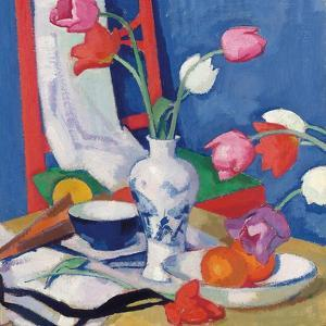 Red Chair and Tulips, c.1919 by Samuel John Peploe